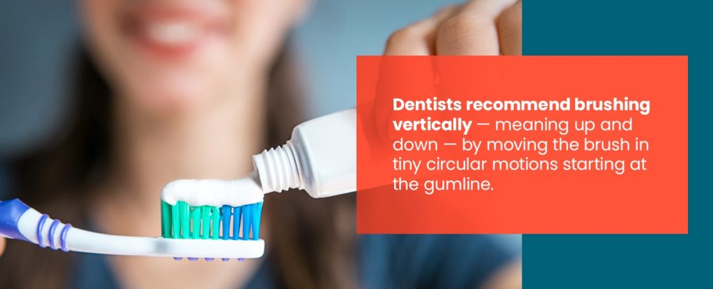 Dentists Recommend Brushing Vertically
