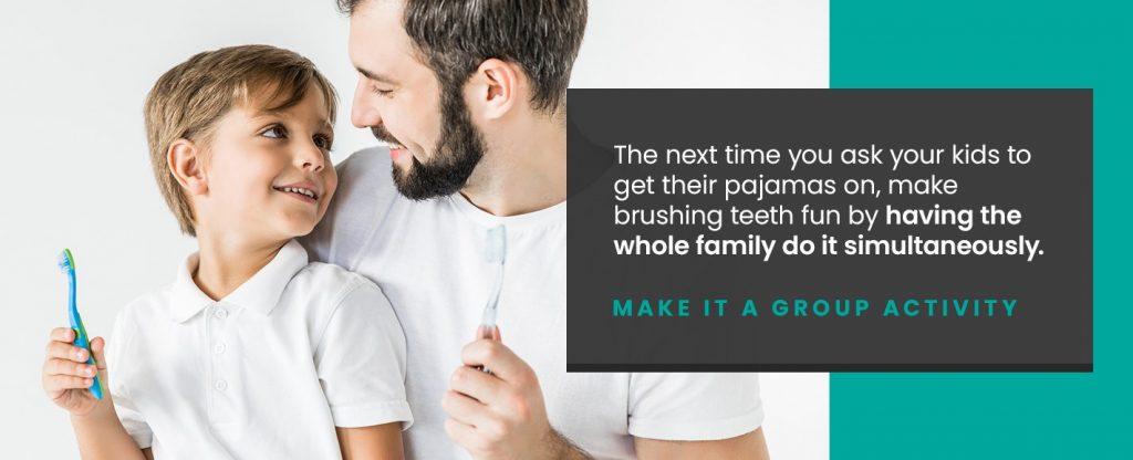 Brushing teeth can be fun for kids!